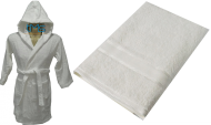 Child Hooded Robe and Towel Set