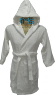 White Hooded Robe Size 4