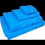 4 Piece Kingtex Towel Set Aqua Blue