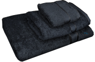 3 Piece Kingtex Towel Set Black