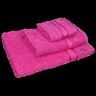3 Piece Kingtex Towel Set Fuchsia