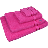 4 Piece Kingtex Towel Set Fuchsia