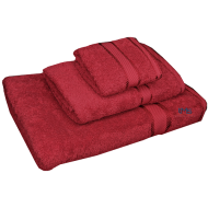 3 Piece Kingtex Towel Set Red