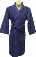 Softouch Terry Toweling Robe Navy