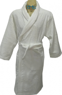 Softouch Terry Toweling Robe White S/M