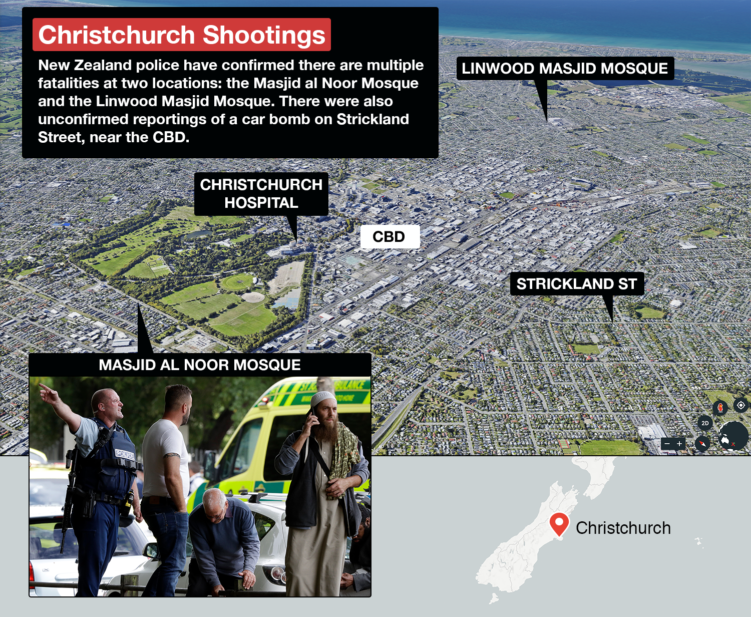 Christchurch mosque shooting latest: At least 49 dead, 4 in custody ...