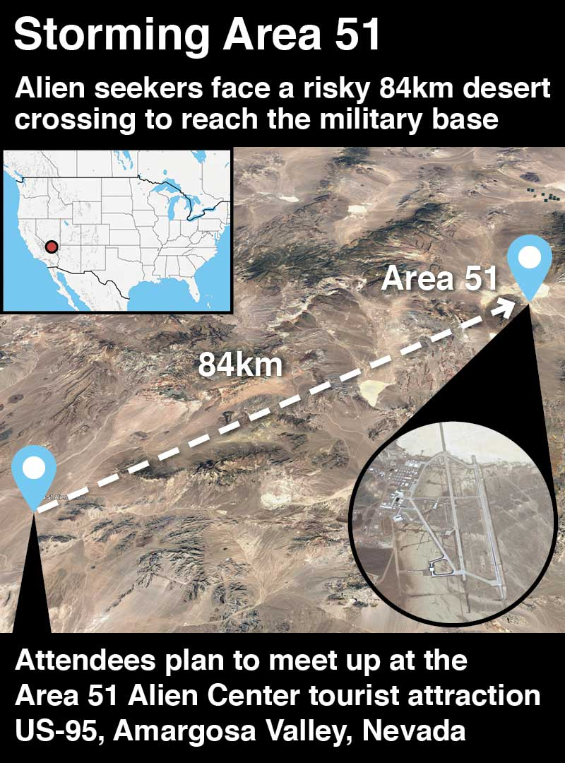 Storm Area 51: Military base raid will be live streamed on