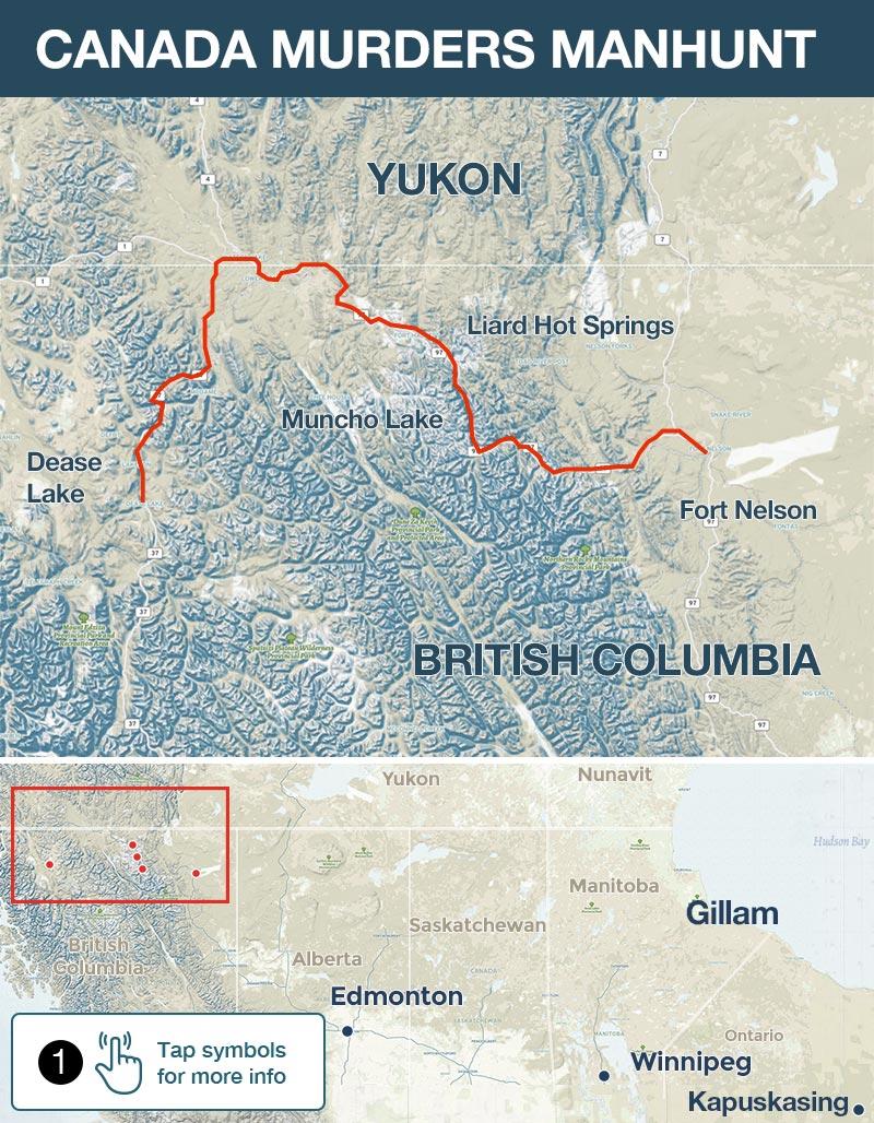Canada manhunt: Bryer Schmegelsky, Kam McLeod in Gillam