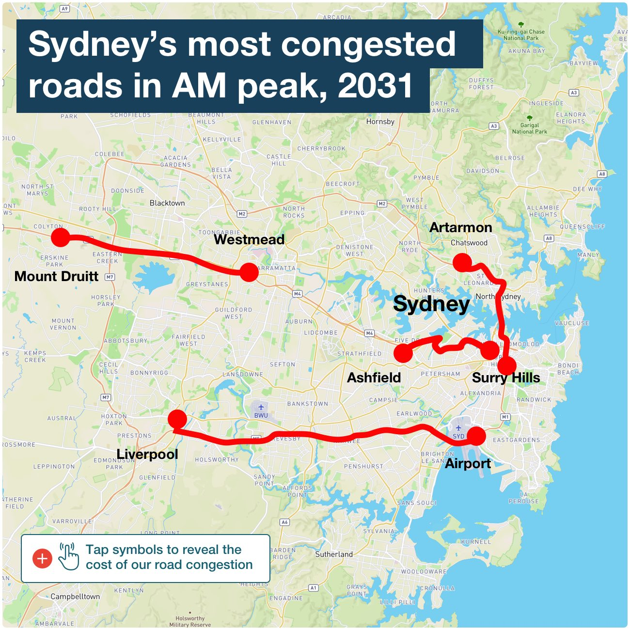 Report shows busiest roads by 2031 in Sydney, Melbourne