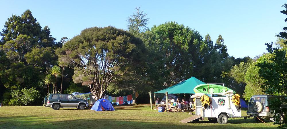 Aroha Island Eco Centre Campsite