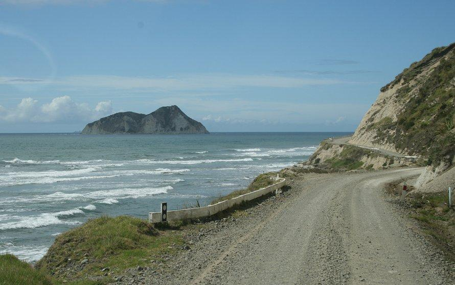 East Cape Road from Opotiki
