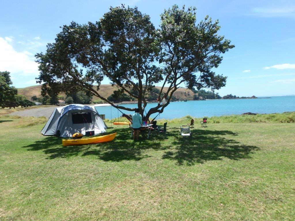 Home Bay, Motutapu Island Campsite