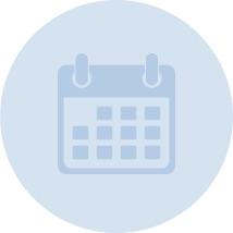 Light blue vector graphic of a calendar