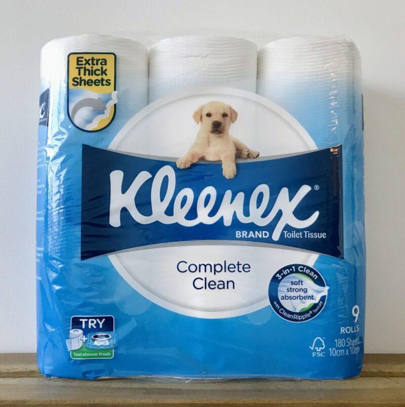 トイレットペーパー   Kleenex Complete Clean