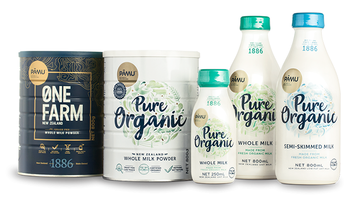 Pāmu Organic Milk Collection