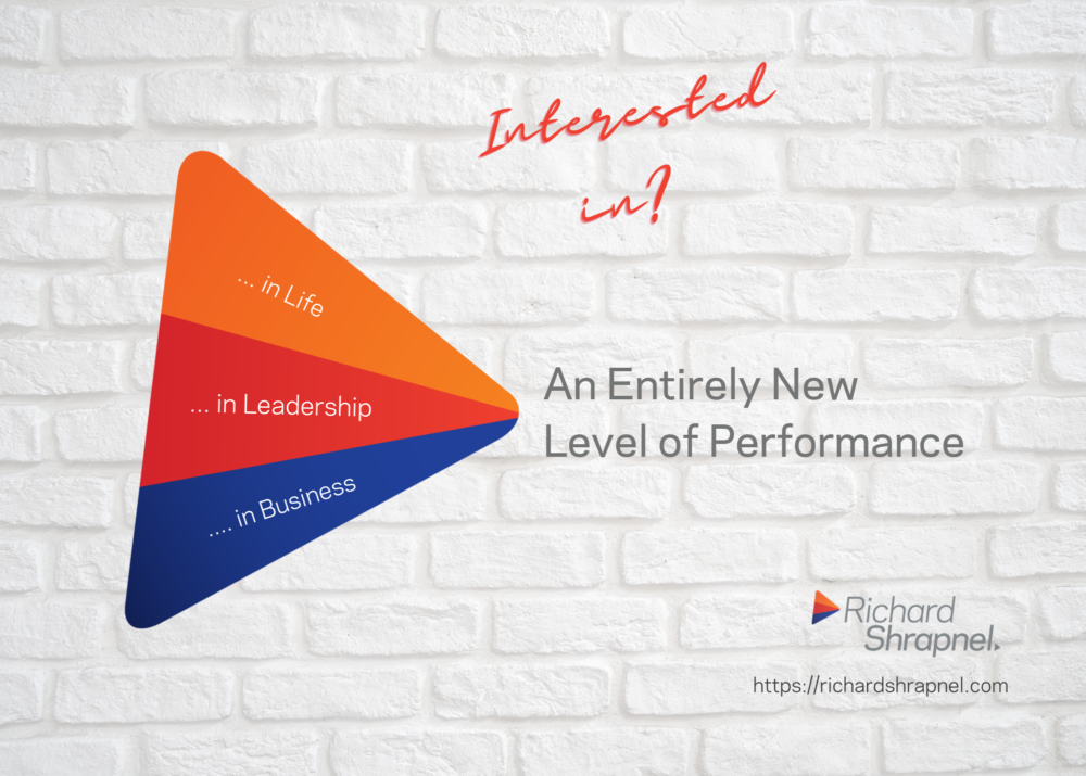 Richard Shrapnel's 'An Entirely New Level of Performance' image.