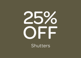 Offers 25 off shutters