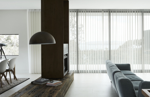 Lounge room setting with Veri Shades on windows