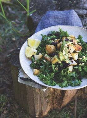 Potato Cranberry and Kale Salad