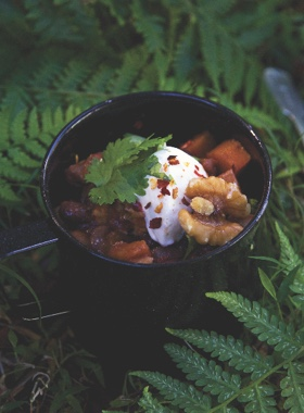 Vegetarian Chilli with Walnuts