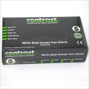 Contrast Powder Free Nitrile Small Gloves 100pk