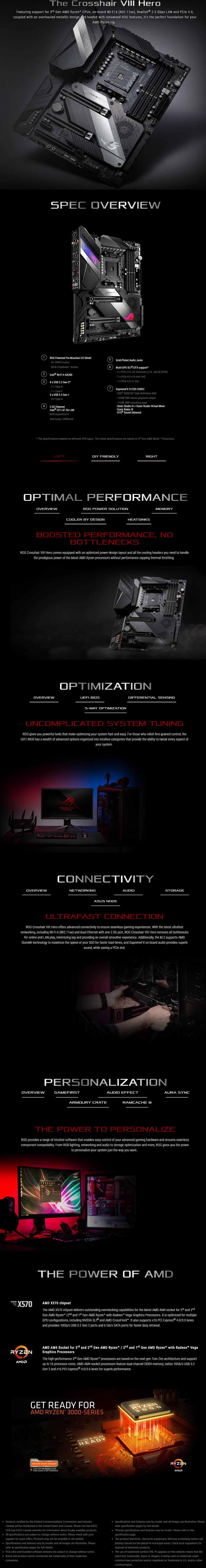 Asus ROG Crosshair VIII Hero WI-FI X570 AM4 ATX Gaming Motherboard