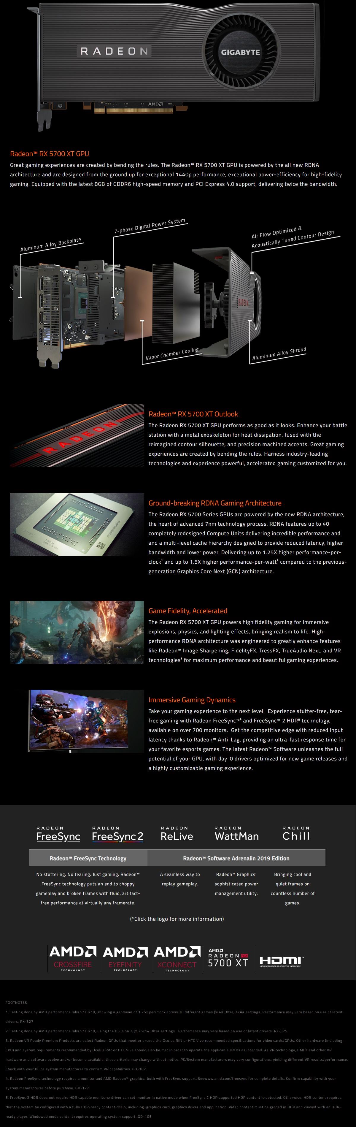 Gigabyte Radeon RX 5700 XT 8G Gaming Graphics Card