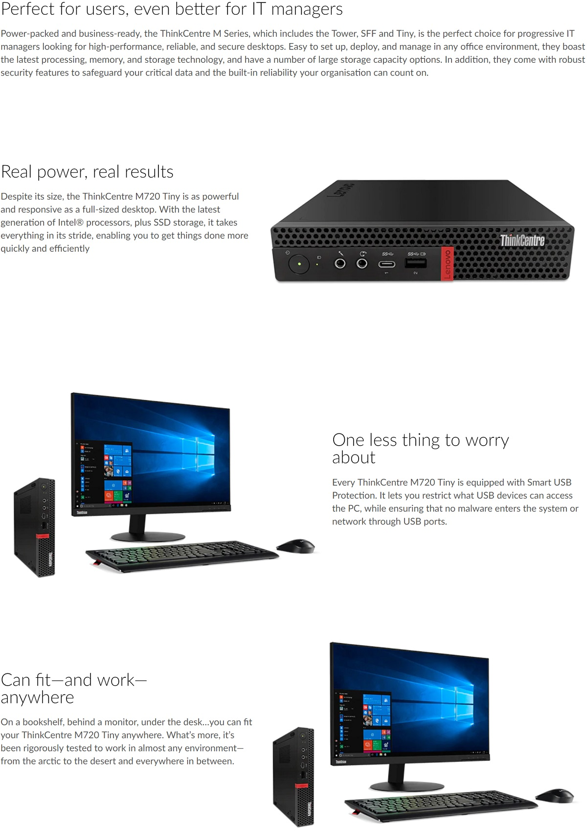 Lenovo Thinkcentre M720 Tiny