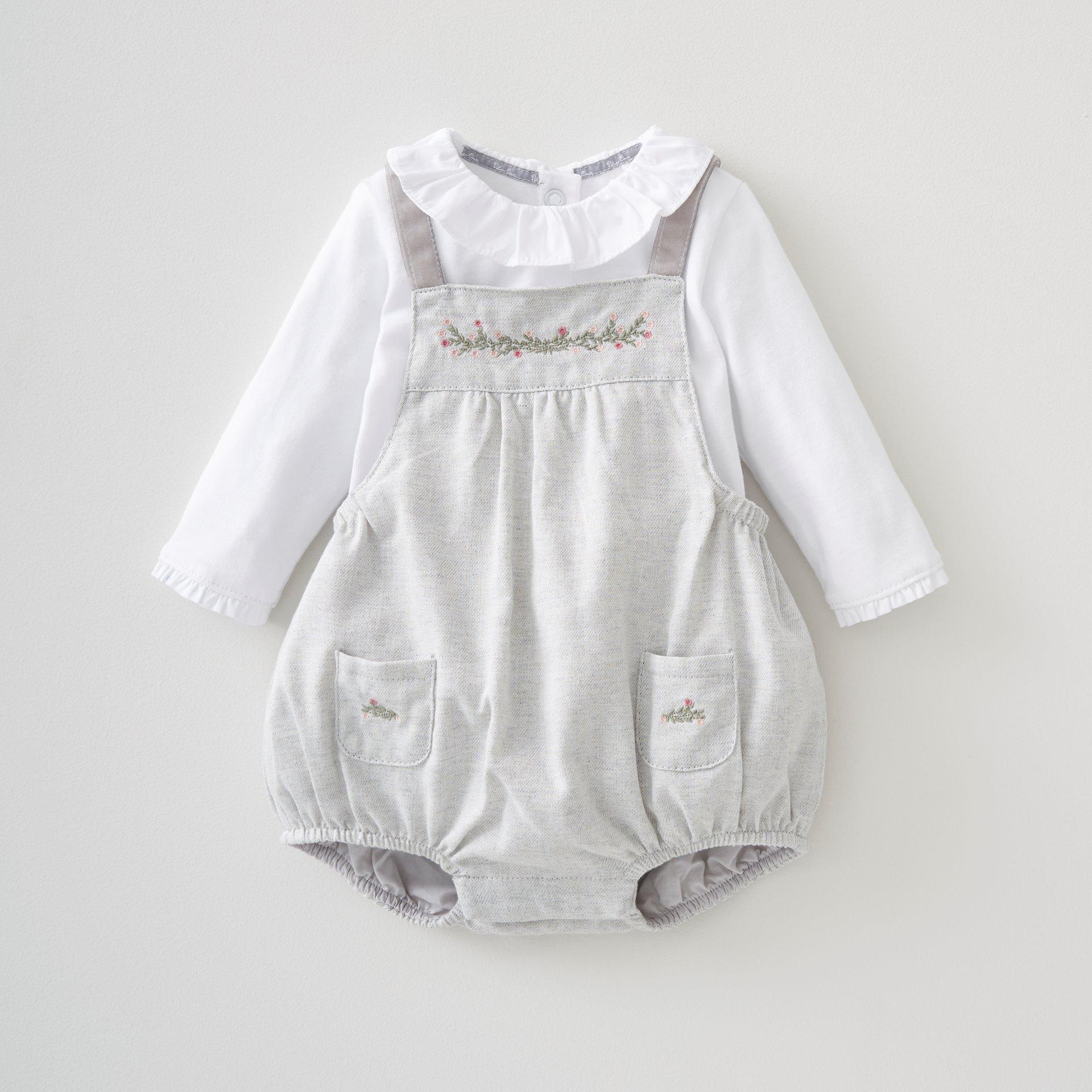 Girls 2 Pce Bloomer & Bodysuit Set 0-3 Months