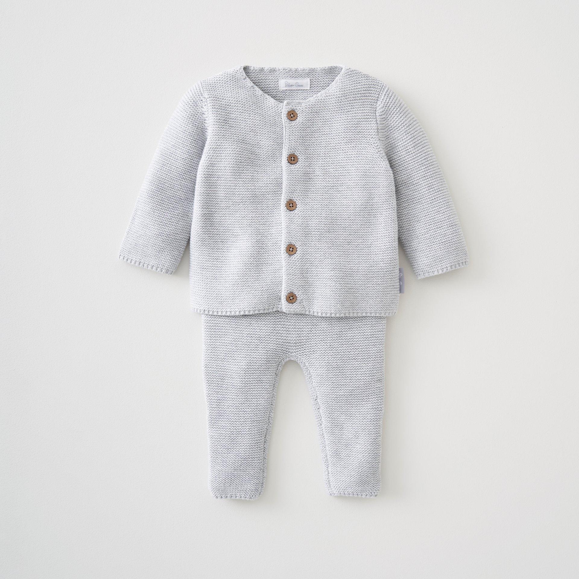 Unisex 2 Pce Knit Top & Pant Set 3-6 Months