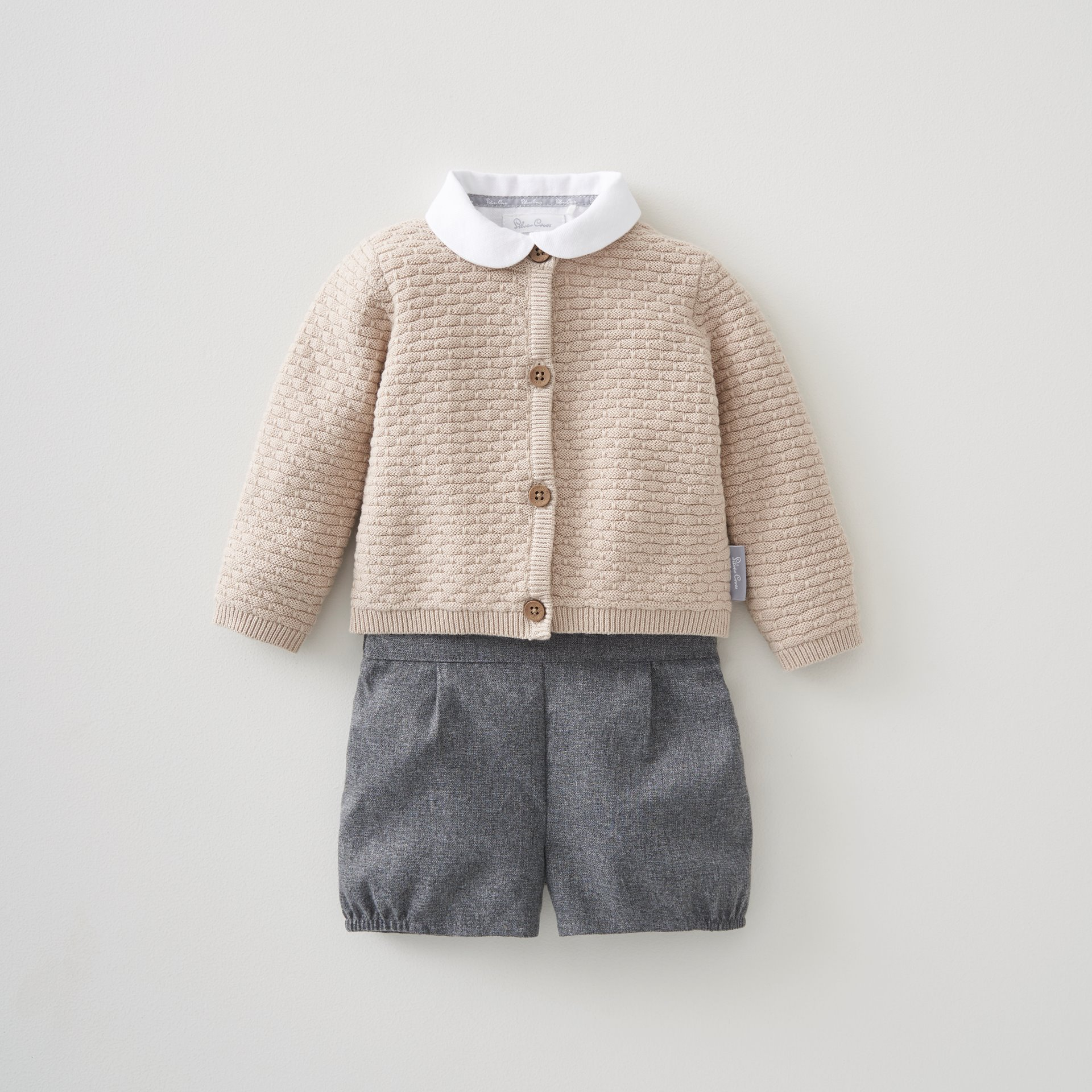 Unisex 3 Pce Knit Cardi / Bloomer & Shirt Set 3-6 Months