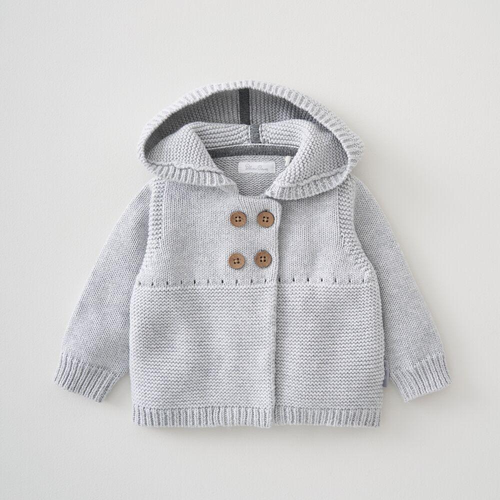 Hooded Knitted Jacket 6-9 Months