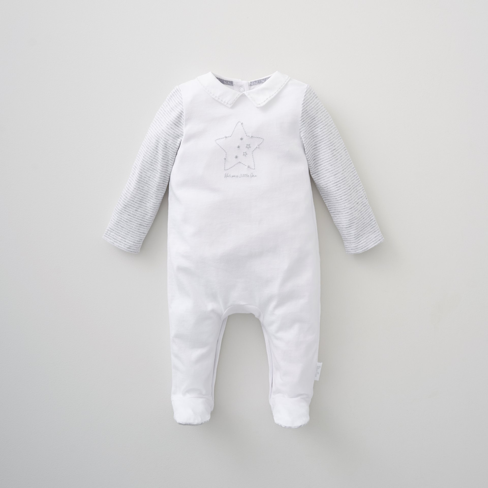 Unisex Star Collar All In One Newborn