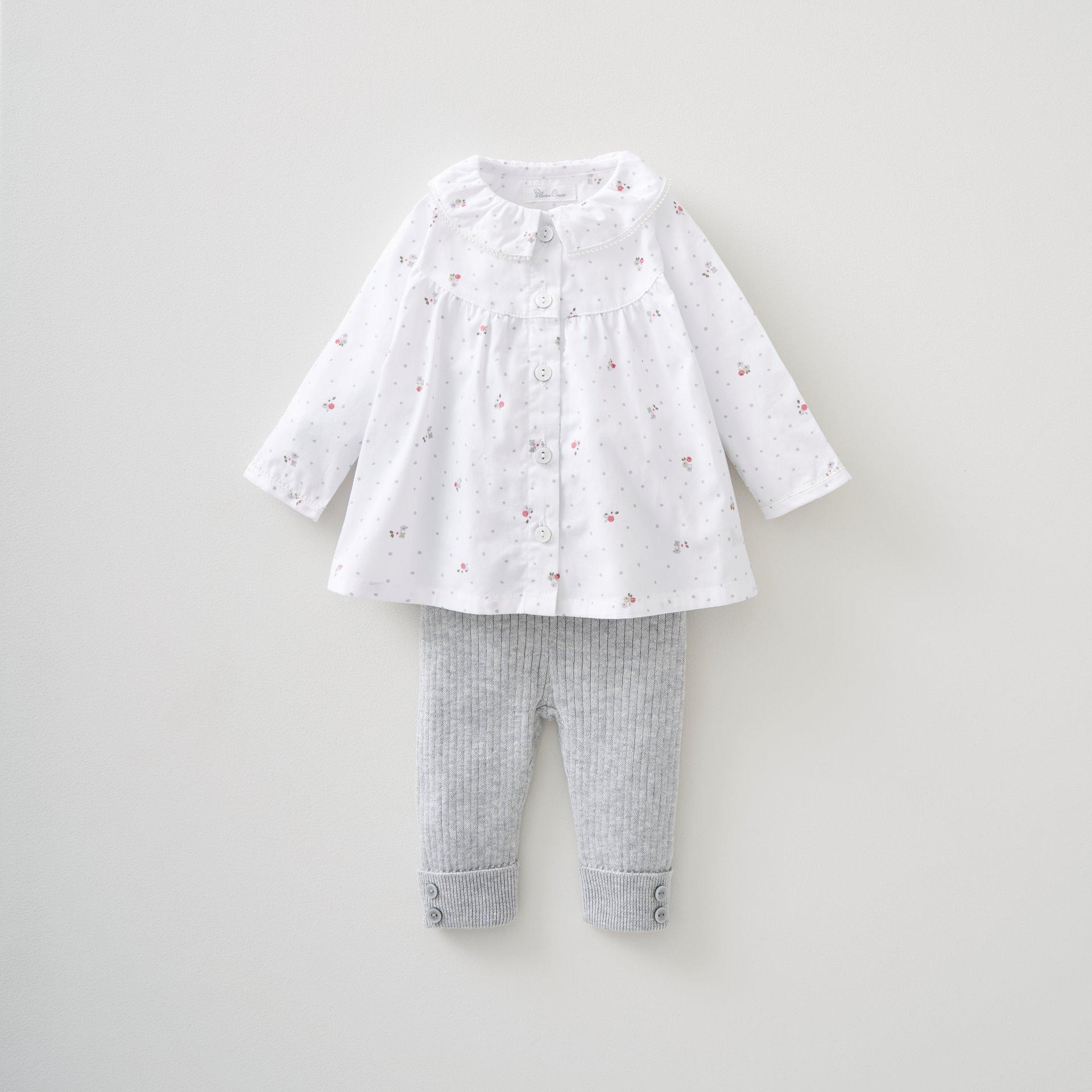Blouse & Knitted Leggings Set 3-6 Months