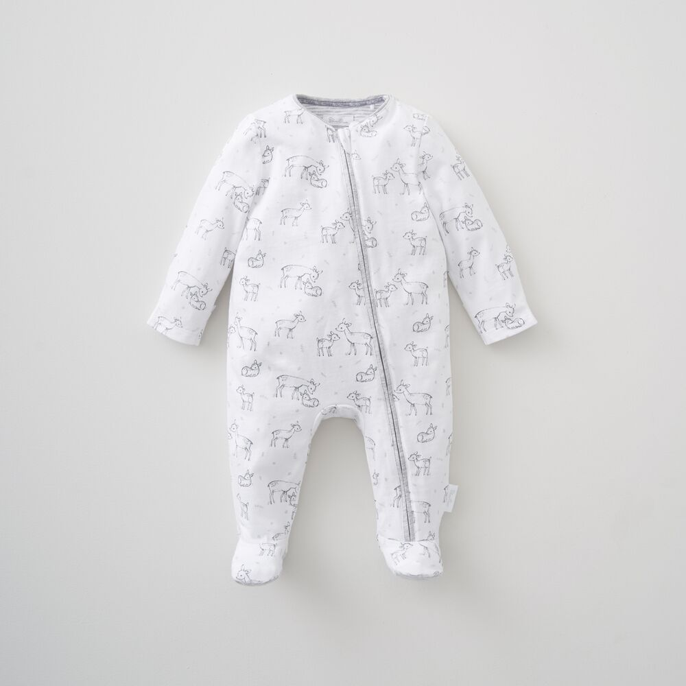 Deer Print Zip All In One 3-6 Months