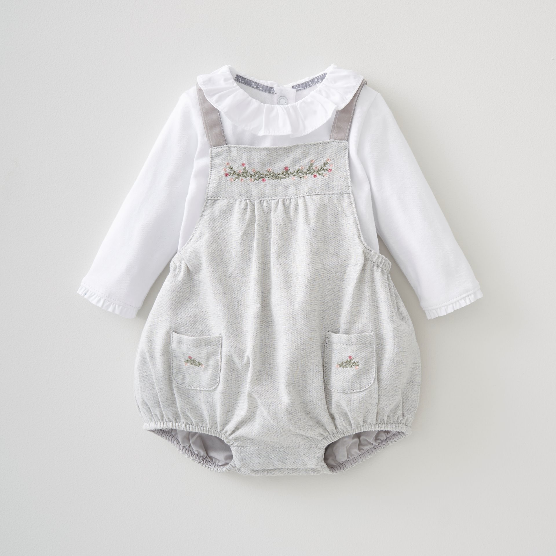 Girls 2 Pce Bloomer & Bodysuit Set 6-9 Months