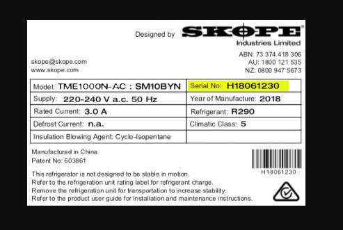 SKOPE Serial Number