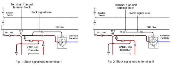 od460  condenser fan motor wiring