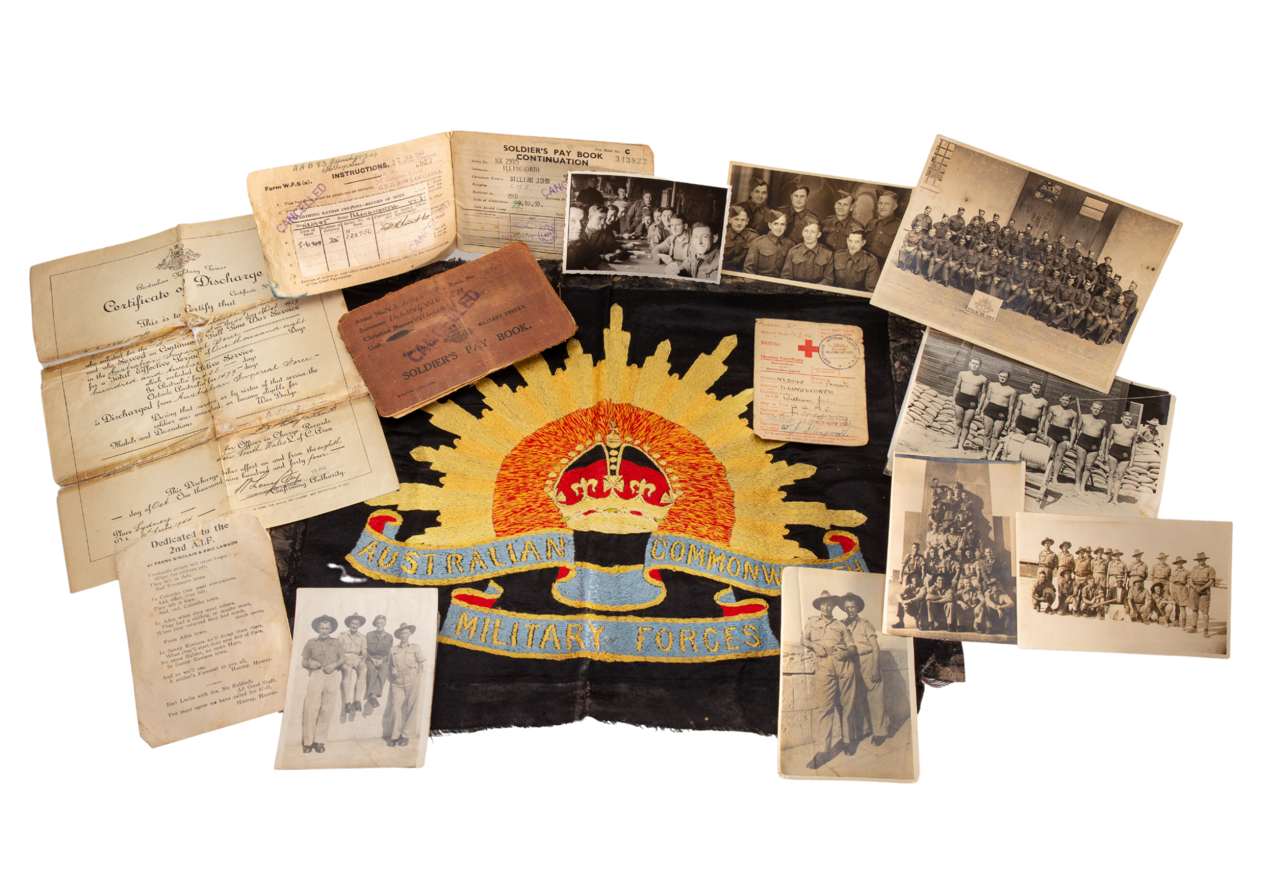 Collection relating to NX2945 William John Illingworth, AAMC, POW, 1939–1944