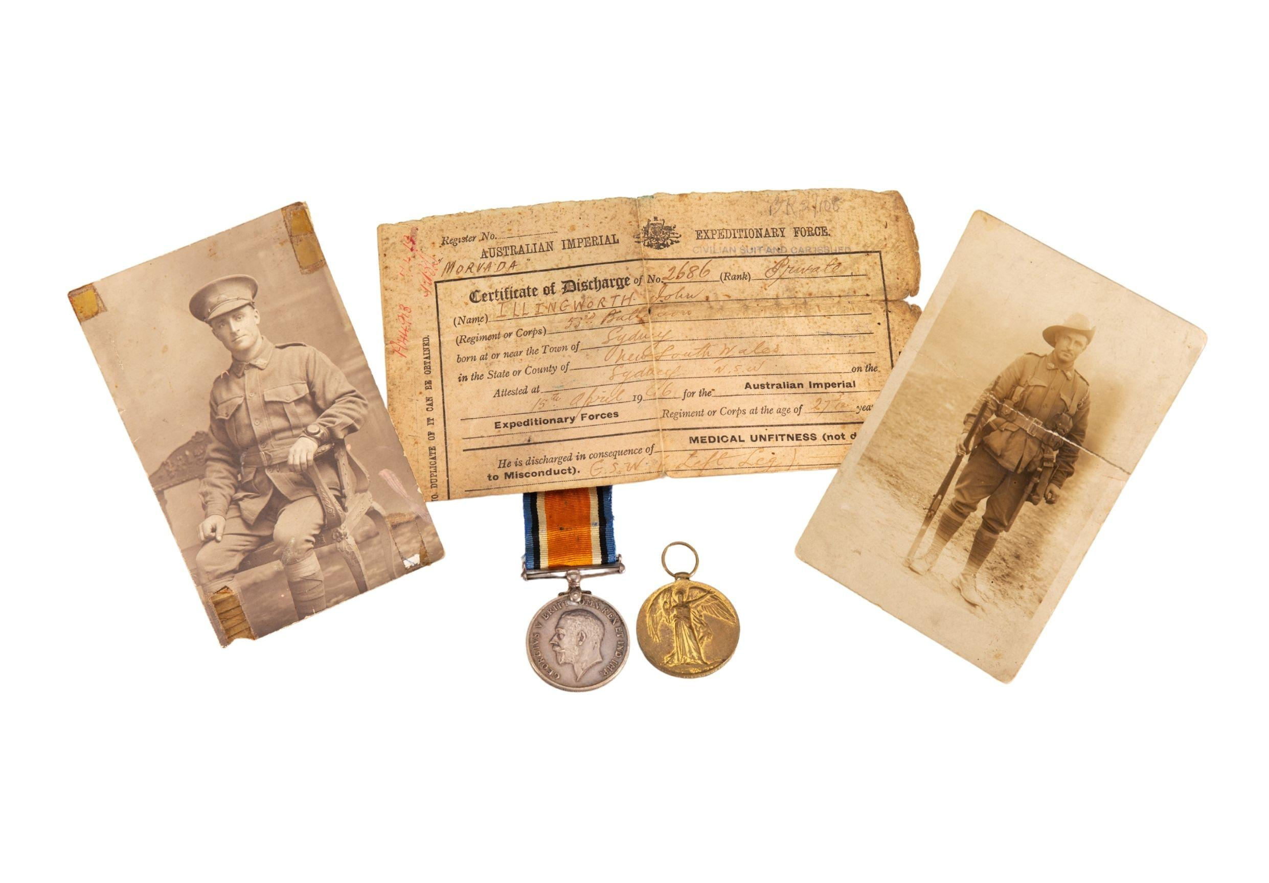 Collection relating to 2686 Pte John 'Jack' Illingworth, 53rd Battalion, AIF, 1916–1919