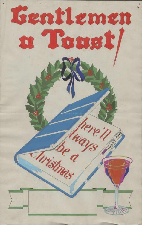 Gentlemen a Toast – there'll always be a Christmas