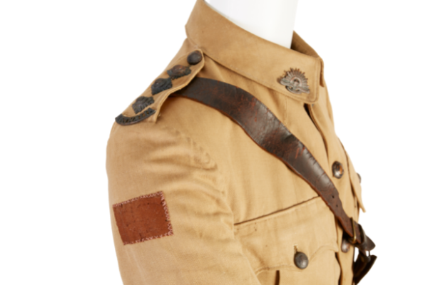 Detail of tunic belonging to Captain George Redfearn Hamilton, who served in the Australian Army Medical Corps.