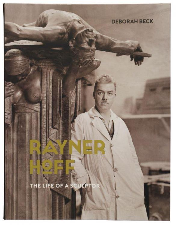 "Cover art featuring Rayner Hoff with his sculpture ""Sacrifice"" in his studio at the National Art School. Photographed by Harold Cazneaux in 1934  - courtesy Mitchell Library, SLNSW"