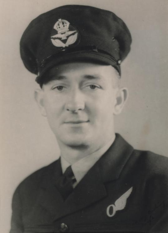 A photograph of F/L Venning. He was in No 7 Squadron, the first RAAF unit to drop surrender leaflets.