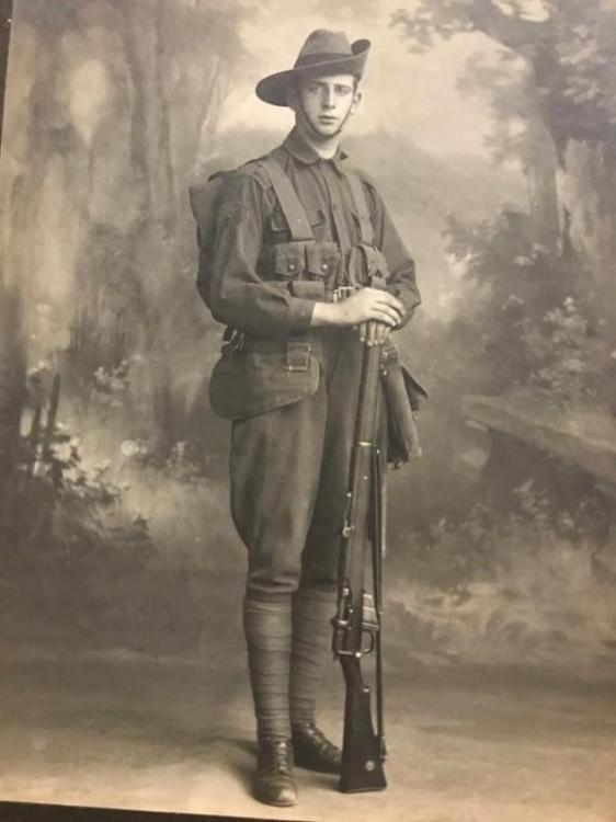 Photo of  Sgt George Haskew, 56th Battalion of the Australian Imperial Force, serving in the First World War.