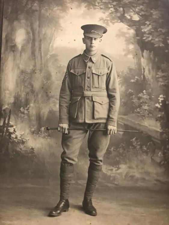 Photo of Herbert Selwyn Haskew, George's older brother. He served in the 2nd Division Medium Trench Mortar Battalion.