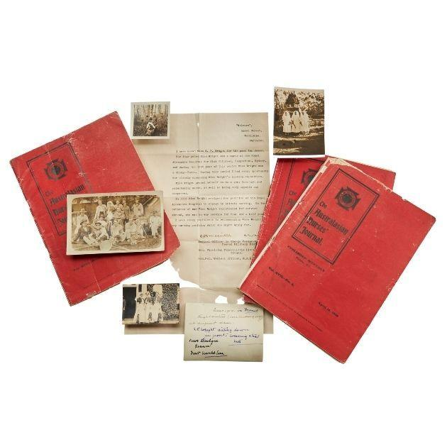 Journals, photographs and employment reference belonging to Sister Evelyn Percy Wright, 1917-1920