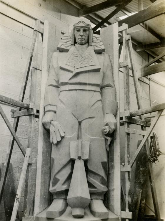 Air force officer before casting. Courtesy Sylvia Embling Archive