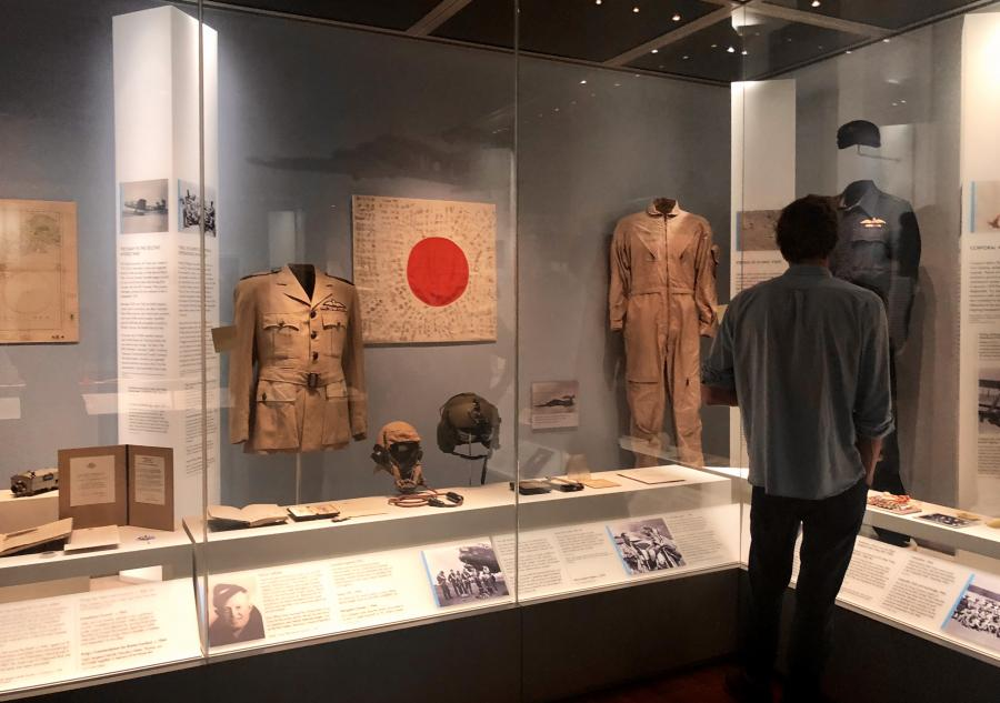 The Air Force section in the Centenary Exhibition