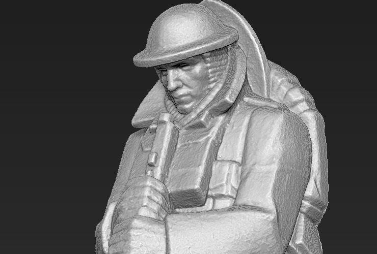 3D scan of Rayner Hoff's Infantryman